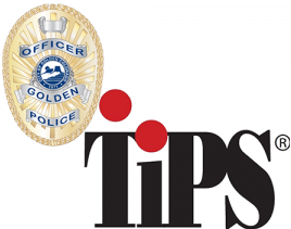 This is an image of the Golden Police Department's Badge and TiPS logo.