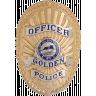 Golden Police Department Badge