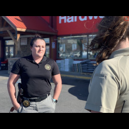 Deputy Bailey Herrera and Patrol Service Technician Catherine Bowers