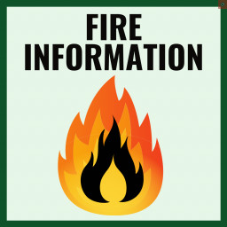 Fire information and drawing of flames