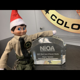Deputy Ralphie with the award