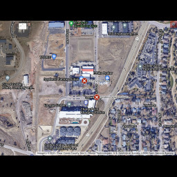 This is an image of a map of Avery St and Spyderco Way, Golden, CO.