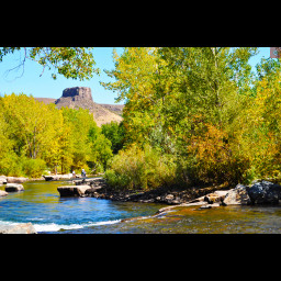 This is an image of Clear Creek in Golden, CO.