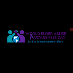 This is an image of world elder abuse awareness day 2021 logo.