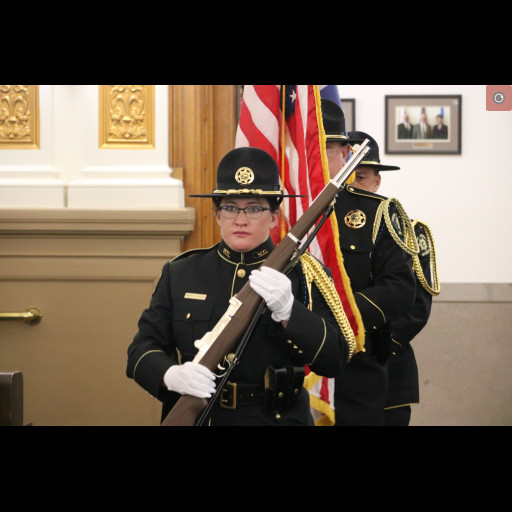 MCSO Honor Guard presenting the colors