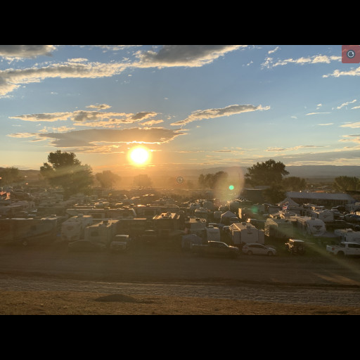 Sunset at Country Jam's campground