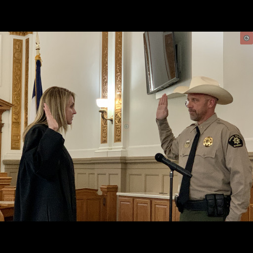 Sheriff Todd Rowell takes the Oath of Office