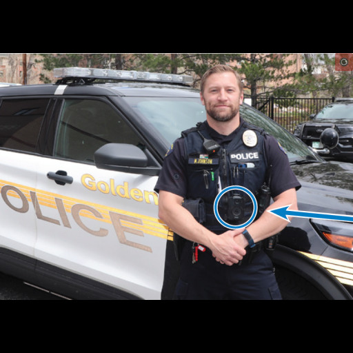This is an image of a Golden Police Officer wearing a body camera.