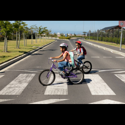 This is an image of children bicycling.