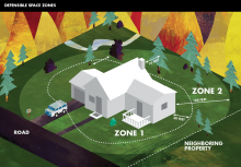 Create a defensible space around your home