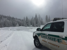 Patrol car in the snow