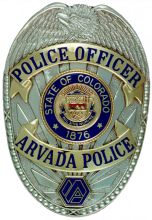 This is an image of the Arvada Police Department badge.