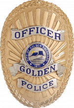 This is an image of the Golden Police Department's Badge.