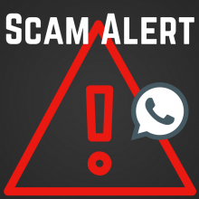 Scam Alert with a phone symbol