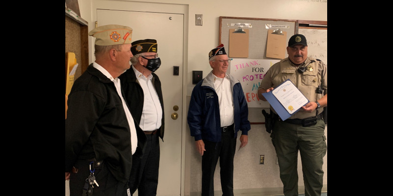 Image for VFW Thanks Deputy for Service